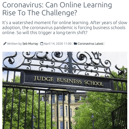 coronavirus can online learning rise to the challenge