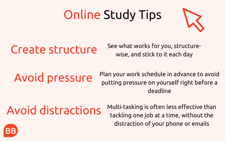 Online MBA tips infographic