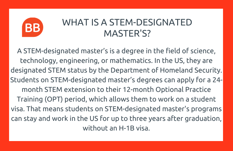 what is a STEM designated master's