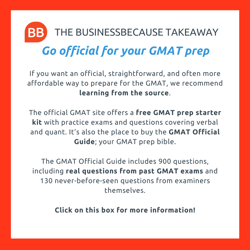 businessbecause gmat test prep advice