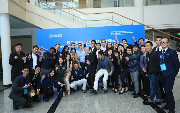 mba students at tsinghua. many get jobs in consulting