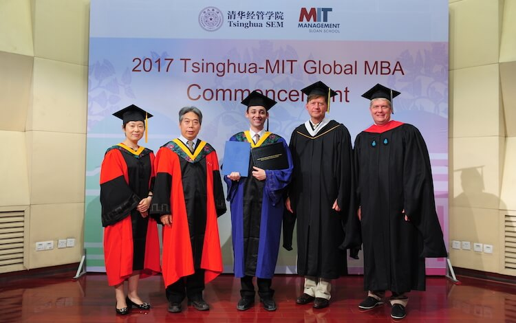 michael at the 2017 tsinghua-mit global mba commencement