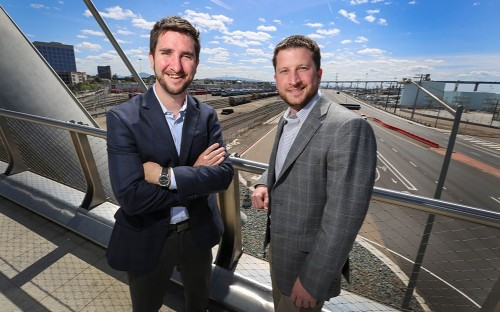 Warren Kucker (left) launched his first business after completing an online MBA