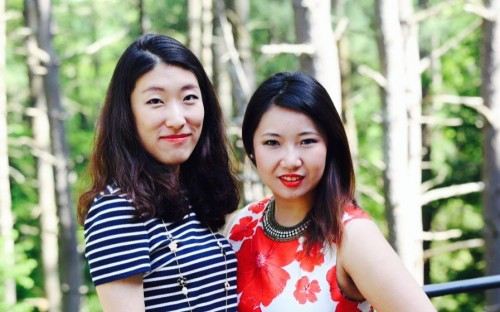 Lu Li (left) and Vickie Gu (right), two of the co-chairs of the Tuck Luxury and Retail Club