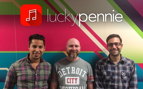 The three LuckyPennie founders are hoping to take on the big mobile App industry leaders