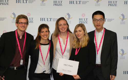 The HEC Paris team at the Hult Prize regional finals in London (© Hult Prize)