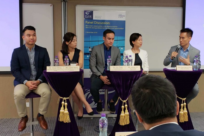 Dr Seen-Meng Chew (far right) believes that there are opportunities for tech-ready MBAs in China