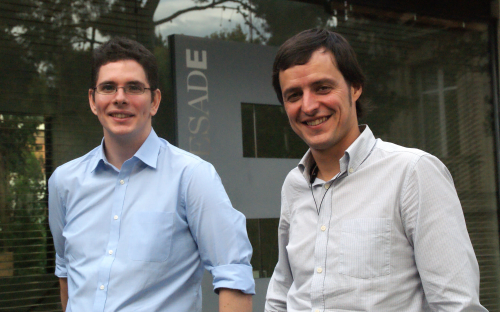Oscar Flores Guri, left, and co-founder Miquel Bru