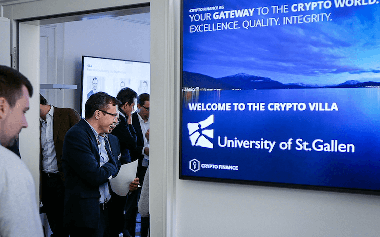 St Gallen MBAs explore trending topics like cryptocurrency on visits to tech hubs