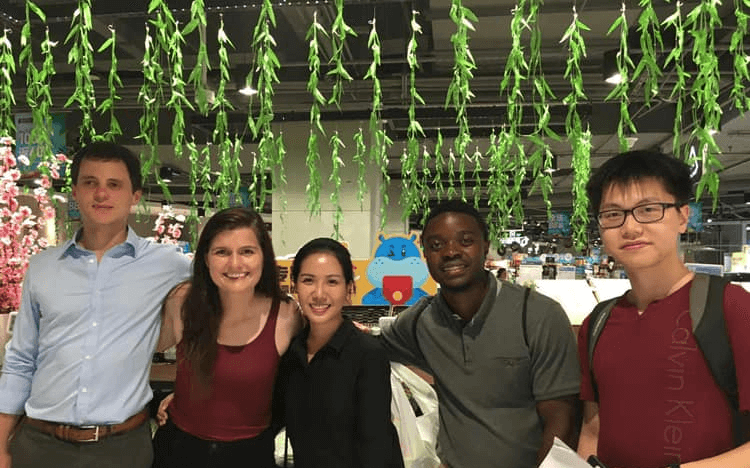 Susie Bonwich (second from left) got to know her MBA classmates while on a six-week global immersion