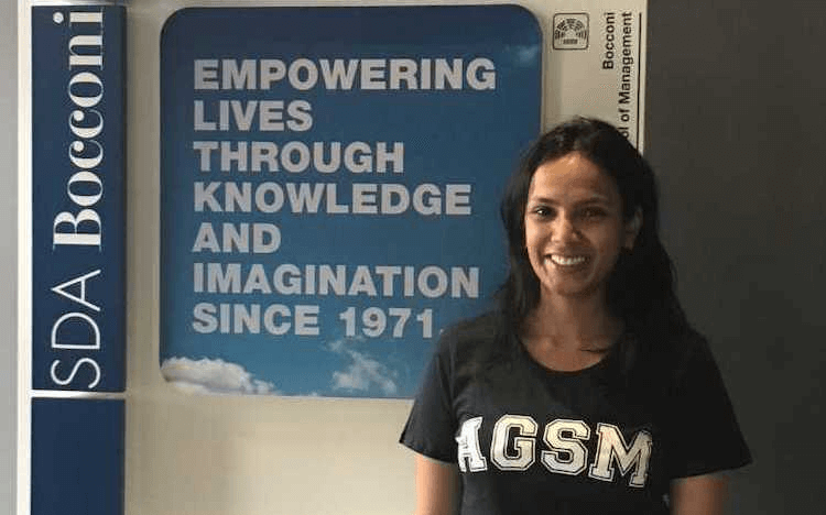 Smriti spent three months in Italy as part of AGSM's MBA exchange program