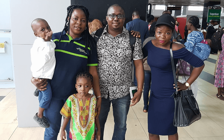 John is a 2018 MBA from the Indian School of Business, here with his family in Nigeria