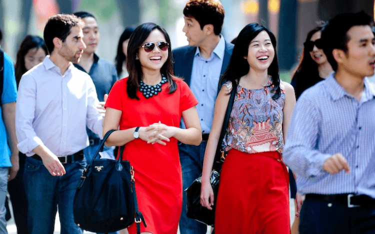 Private Equity Jobs: Theodora (in red) kickstarted her career at Tembusu Partners with an MBA