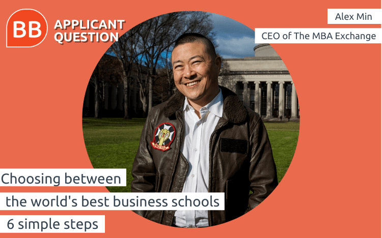 For Alex Min, there are six important steps to selecting one of the world's best business schools
