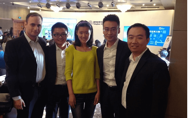 Saman (left) is tasked with finding the next generation of artificial intelligence startups for Baidu Ventures