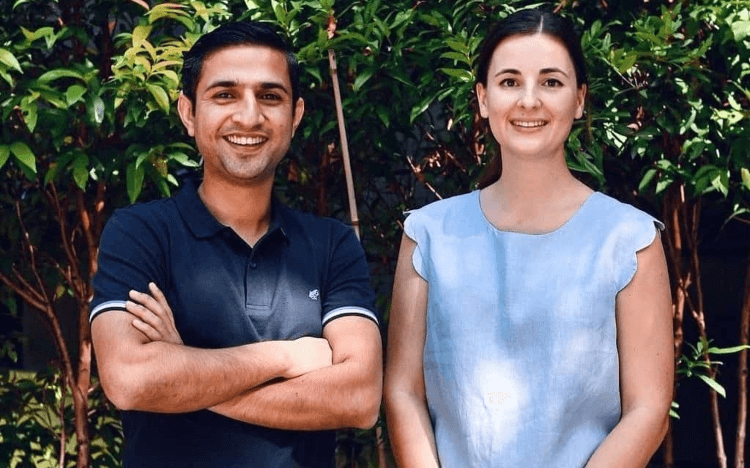 After her MSc in Management at SMU, Josephine Stoker (right) launched an entrepreneurial career—and a carbon footprint tracking app—with Abdul Aziz (left)