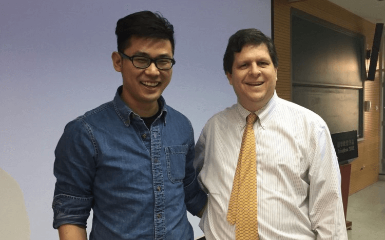 Leon Liu (left) with Professor Scott Stern of MIT Sloan. Leon is now senior director of ByteDance, who own TikTok
