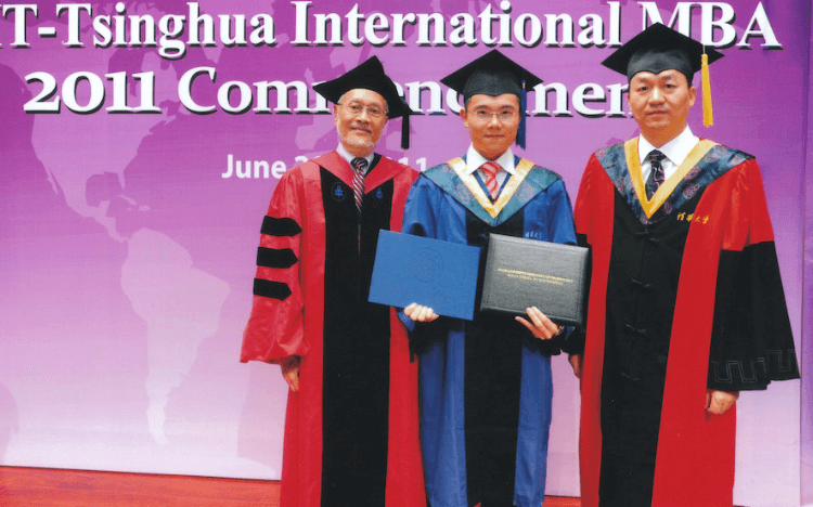 MBA to entrepreneur: Terence (middle) completed his MBA at Tsinghua University before launching his own investment fund