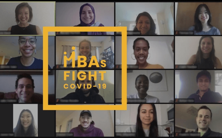 MBAs Fight COVID-19 is a student-led initiative to connect struggling businesses with MBA students who can help ©HBS Facebook