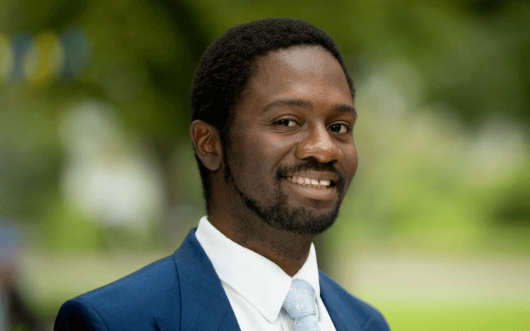 Adolphus Bassey chose UBC Sauder for its commitment to sustainability and impact