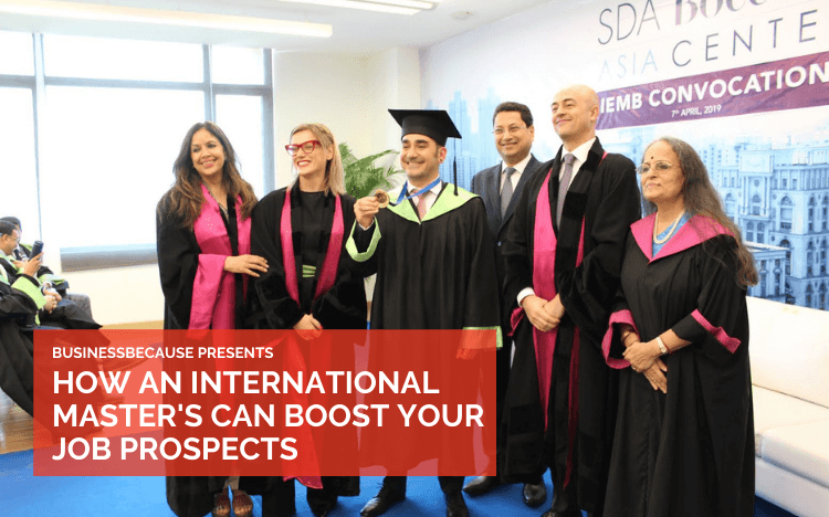Graduating from SDA Bocconi Asia Center could increase your chances of getting hired internationally