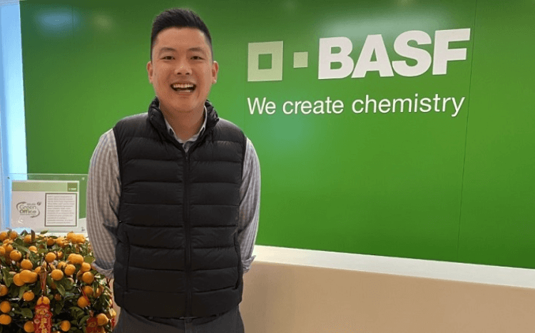 Lin Yuan was able to extend his MBA internship with BASF before landing a full-time job with the firm in 2021