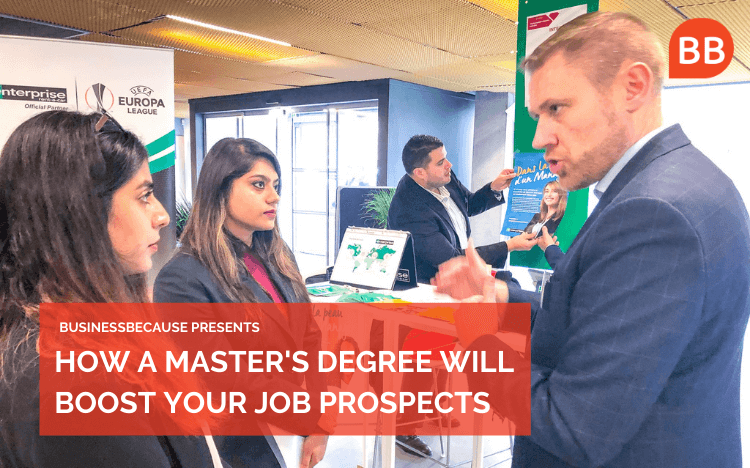 During a master's degree, you'll get introductions to employers and support through job applications (Credit: EDHEC Master's Facebook)