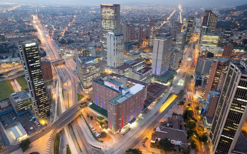 In Bogota, Colombia, second-year Fox MBAs work on consulting projects for real firms