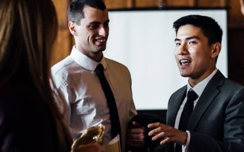 Josh (right) wants to explore impact investing during his Chicago Booth MBA