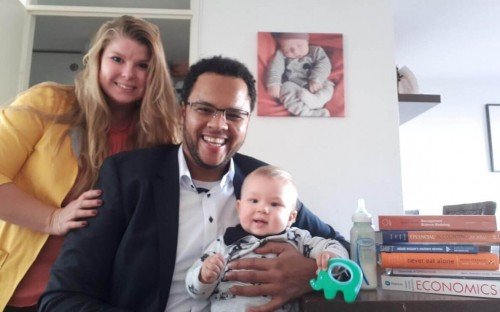 Wilson's starting a new life in the Netherlands post-MBA with his wife and baby boy