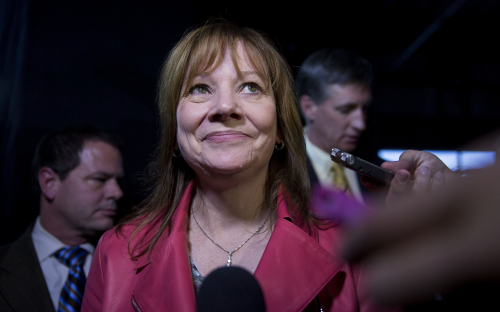 General Motors CEO Mary Barra earned an MBA at Stanford GSB — © Bloomberg