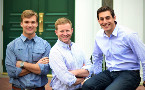 Rob Biederman, far right, is the co-founder and chief executive of HourlyNerd