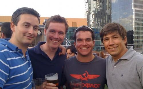 All Smiles: Jason Widjaja, far right, during orientation at Melbourne Business School