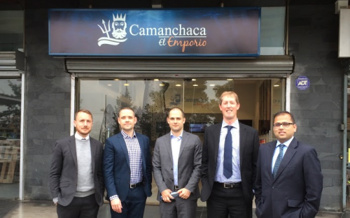 Gareth Evans, far left, and his Cass EMBA consultancy team