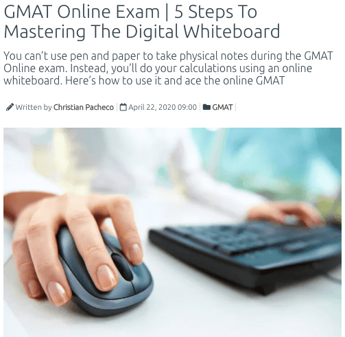 gmat online exam whiteboard tips