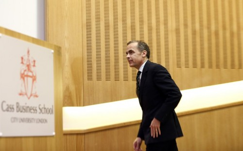 Mark Carney, Governorof the Bank of England, speaking at finance-focused Cass Business School