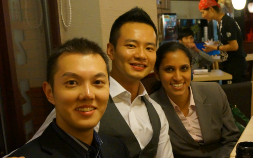 CEIBS MBA Daniel Shi, left, is set on a finance career in Shanghai, China