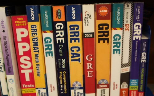 The GRE has three sections: analytical writing, quantitative and verbal reasoning.