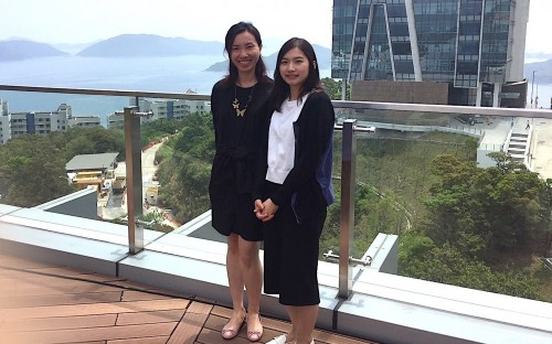 Pauline (left, with her colleague Sarah Wong) says HKUST Business School offers something different