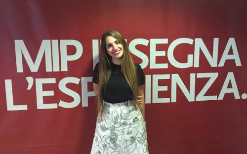 Carla Buda is a current full-time MBA student at Italy's MIP Politecnico di Milano
