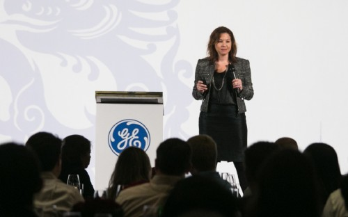 General Electric's Heather Giese addresses the recent ECLP Conference in Shanghai