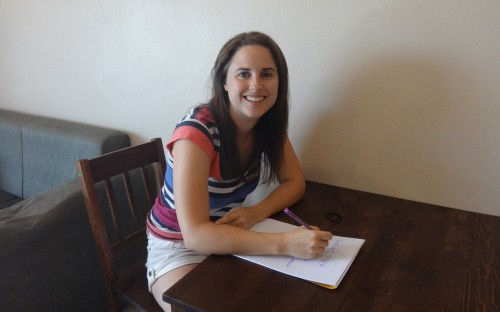 Eliza Chute hopes work on corporate social responsibility issues when she graduates