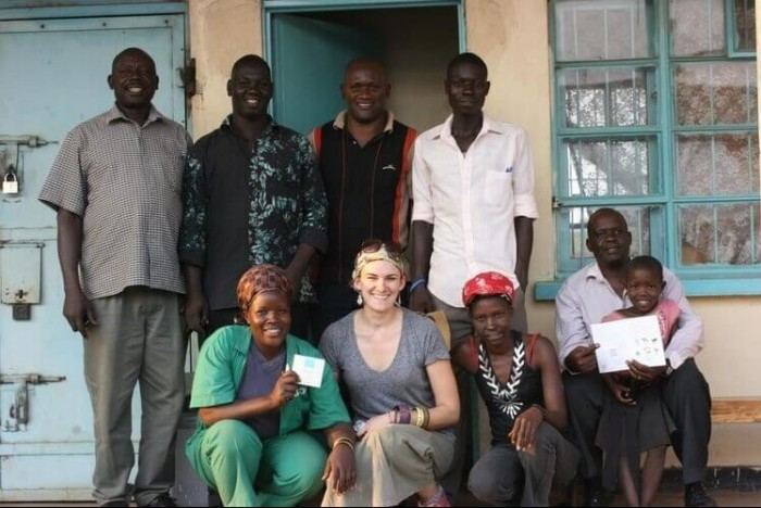 Post-MBA Natalie (front, second left) worked in Northern Uganda for an agricultural development firm