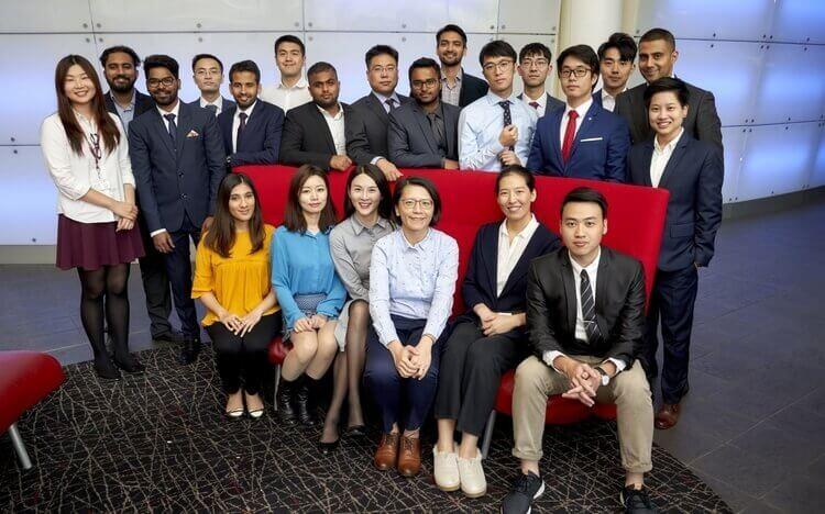 This year's Aston Business School MBA cohort—an international class