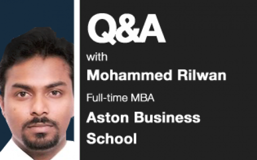 Aston MBA Mohammed Rilwan: his classmates have said he's charismatic