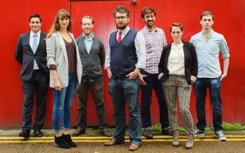 Nicholas Russell, far left, CEO of We Are Pop Up, graduated from Oxford with an MBA