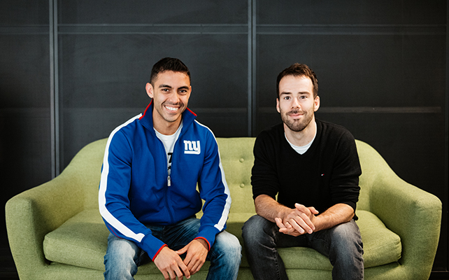 Orlando Guerra (left) and Max Corteggiano (right) founded Flyscribe during an MBA at HEC Paris