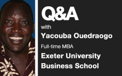Yacouba Ouedrago: wants to bring private sector ways of doing things to NGOs