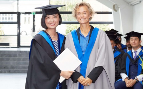 Huijue Ye (left) graduated with an MBA from Copenhagen Business School this year