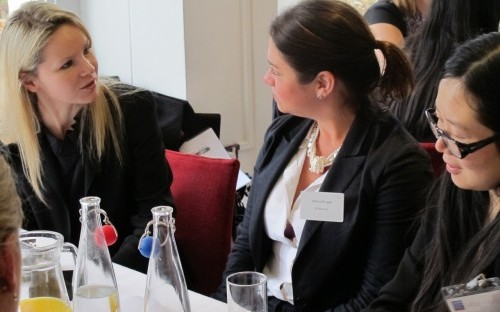 Alina Osipava (LBS MBA 2013) and Clarice Borges (AT Kearney Associate)